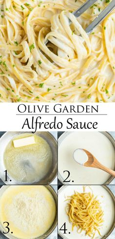 This easy Alfredo Sauce recipe from Olive Garden is a 20 minute meal that goes with any kind of pasta! This easy Alfredo Sauce recipe from Olive Garden is a 20 minute meal that goes with any kind of pasta! Sauce Recipes, Pasta Recipes, Chicken Recipes, Dinner Recipes, Cooking Recipes, Recipes With Pasta Noodles, Easy Pasta Meals, Baked Chicken, Chicken Pizza