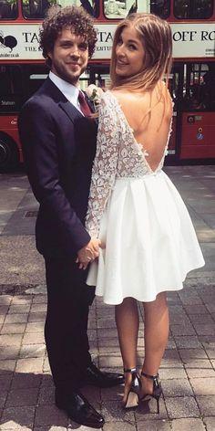 Amazing Short Wedding Dresses For Petite Brides ❤ See more: http://www.weddingforward.com/short-wedding-dresses/ #weddings