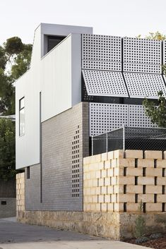 Image 48 of 60 from gallery of Blinco Street House / Philip Stejskal Architecture. Photograph by Bo Wong Hunter Street, Brick Flooring, Street House, Australian Homes, Facade Architecture, House 2, Glass Door, Entrance, Photograph