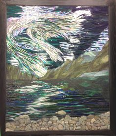 Stained Glass Mosaic Aurora Reflections
