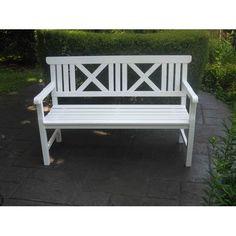 Hampton Garden Bench White