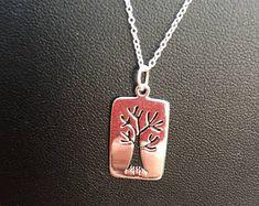 Tree of life Tree Necklace, Dog Tag Necklace, Pendant Necklace, Tree Of Life, Dog Tags, Pendants, Unique, Handmade, Etsy