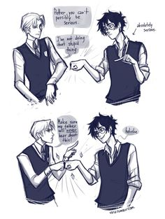 in which Harry and Draco become bros by *viria13 on deviantART