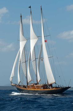 """Creole"", Charles Nicholsons 1927 schooner. Largest wooden sailing yacht in the world at 214'..... a stunning yacht......if I ever won the lottery this is what I would buy!"