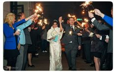 New Year's Eve wedding sparkler sendoff! (Photo by Lifewinds Photography)