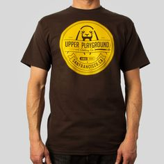 Upper Playground - Up Seal T-Shirt in Brown by Morning Breath