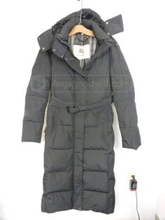 shopgoodwill.com: Burberry London Puffer Down Coat - Women's Medium #burberry #london #puffer #down #coat #winter #warm #goodwill