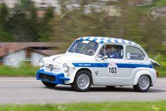 Mutschellen, SUISSE-29 avril: Vintage Race Touring Car Fiat .. Photo, Image et Image libre de droits. Pic 13575579.