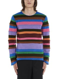 Sweater From Comme Des Garcons Shirt: Wool Patchwork SweaterComposition: ac, wo Sweat Shirt, Comme Des Garçons Shirt, Comme Des Garcons, Wool Blend, Crew Neck, Men Sweater, Pullover, Knitting, Purple