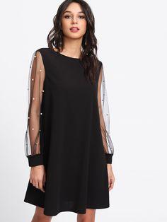 Negozio Vestito con perle sintetiche on-line. SheIn offre Vestito con perle  sintetiche   d8227c72285