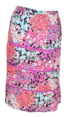 Madison Aline Floral Skirt Plus Size 2X Tiered Peasant Elastic Waist Lined #MadisonWoman #ALine