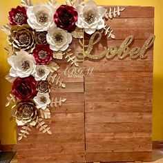 Security Check Required The 10 Best Home Decor (with Pictures) - A beautiful BACKDROP made for a special event. Paper Flower Wall, Paper Flower Backdrop, Paper Flowers, Quince Decorations, Quinceanera Decorations, Quinceanera Ideas, Wedding Decorations, Pallet Backdrop, Diy Backdrop