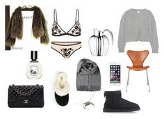 """""""Untitled #41"""" by malllle on Polyvore featuring UGG Australia, Iris & Ink, Georg Jensen, Acne Studios, Chanel and Diptyque"""