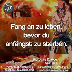 #PortgasDAce #OnePiece #AnimeZitate