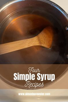 Simple syrup is the easiest cost-saving way to boost your drinks at home. From coffees to cocktails, simple syrup can add a kick to your cup. Cost Saving, Canning Recipes, Simple Syrup, Yummy Drinks, Food To Make, Cocktails, Alcohol, Coffee, Health