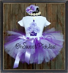 LAVENDER & LACE  Includes BIRTHDAY Tutu Skirt by OhSweetPickles, $39.95