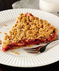 Serve this Plum Hazelnut Crumble Tart with custard, pouring cream or ...