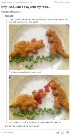 CURSE YOUR SUDDEN BUT INEVITABLE BETRAYAL! And yay for other people who make their nuggets eat each other.