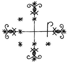 Voodoo Symbols for Their Gods: Papa Legba, Image 2 Papa Legba, Voodoo Hoodoo, Voodoo Spells, Voodoo Magic, Esoteric Symbols, Voodoo Tattoo, Marie Laveau, Drums Beats, Haitian Art