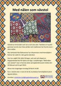 Swedish VÄVSÖM (similar to brick stitch). Excellent inspirational poster
