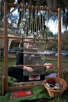 A Navajo weaving demo by Joy Bergman from Weavers of Orlando, Florida