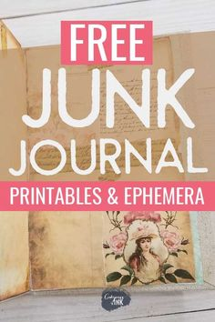 This is the ultimate list of free junk journal printables and junk journal ephemera so you can get started on your next junk journal idea! I wish it would be Christmas all year long! Junk Journal, Journal Paper, Art Journal Pages, Journal Cards, Art Journals, Bullet Journal, Diy Journaling Cards, Journal Pages Printable, Journal Ideas Smash Book