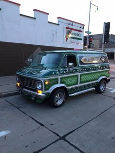 Old School Vans, Vanz, Yellow Car, Custom Vans, Caravan, Chevy Vans, 70's Style, 1970s, Truck