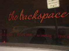 Backspace-- Best pizza (and near the convention center) Good Pizza, Convention Centre, Neon Signs, San
