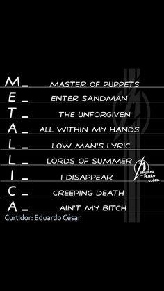 Great Bands, Cool Bands, Metallica Lyrics, Ron Mcgovney, Hair Tips Video, Enter Sandman, Robert Trujillo, Master Of Puppets, Dave Mustaine
