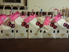 DIY Hello kitty bags I made for my daughters 4th bday theme party