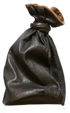 Leather weekender