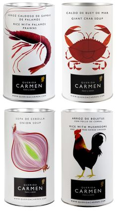 Because It's Awesome: Perfect Package // Querida Carmen - I want to fill my pantry with these cool cans.