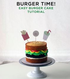 Is it a burger? Is it a cake? Either way we're hungry. Learn to make your own whimsical burger cake on the Craftsy Blog!