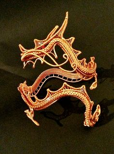 Wire wrapped dragon pendant | Pinterest | Dragon pendant, Wire ...