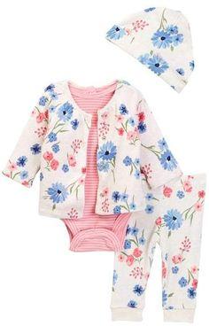 Offspring Mixed Bouquet Reversible Jacket Set - 4-Piece Set (Baby Girls)