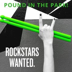 Pound In The Park is here! Beginning the of November. Fitness Logo, Fitness Quotes, Fitness Motivation, Workout Memes, Gym Memes, Workouts, Pound Workout Rockout, Cardio Drumming, Adrenal Cortex