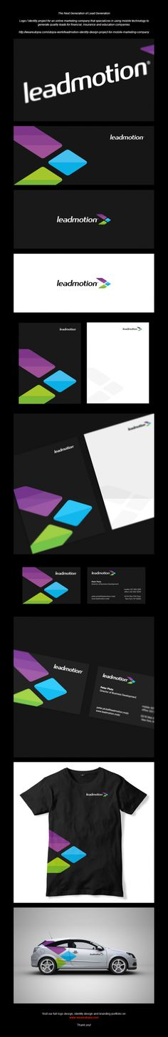 Leadmotion logo and corporate identity design by Utopia Branding Agency