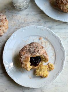 Lower Calorie Baked Jam Doughnuts by Karen Burns-Booth
