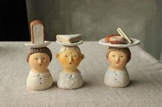 Ceramic Pottery, Pottery Art, Ceramic Art, Ceramic Figures, Clay Figures, Clay Dolls, Art Dolls, Sculpture Art, Sculptures