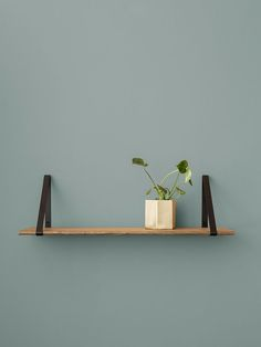 ferm LIVING design for the living room. Shop design for your living room online. Danish design furniture and interior - We offer low cost shipping! Oak Wall Shelves, Wall Hanging Shelves, Wooden Shelves, Display Shelves, Floating Shelves, Wood Shelf, Wood And Metal Shelves, Kitchen Shelves, Wood Interior Walls