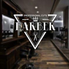 Man Barber Shop Sticker Name Bread Decal Haircut Shavers Crown Posters Vinyl Wall Art Decals Decor Windows Decoration Mural Barbershop Design, Barbershop Ideas, Barber Shop Names, Barber Logo, Studio Logo, Real Style, Hair Studio, Shop Logo, Sticker Shop