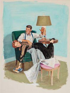 Фото, автор NATALI на Яндекс.Фотках LOL LOL Retro Humor, Vintage Humor, Vintage Comics, Vintage Ads, Retro Funny, Vintage Romance, Poster Vintage, Spanked Wife, Spanking Art