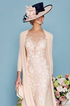 Veni infantino short embellished dress with chiffon coat 008878 - Catherines of Partick Mother Of Bride Outfits, Mother Of Groom Dresses, Mothers Dresses, Bride Groom Dress, Mother Of The Bride, Evening Party Gowns, Evening Dresses, Pretty Dresses, Beautiful Dresses