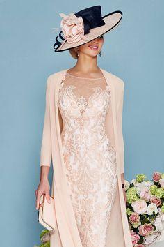 Veni infantino short embellished dress with chiffon coat 008878 - Catherines of Partick
