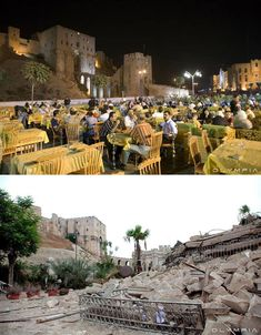 a syrian restaurant is posting before and after photos of aleppo and its heartbreaking 6 A Syrian Restaurant is Posting Before and After Photos of Aleppo and Its Heartbreaking Aleppo Before And After, Borneo, Refugees Syria, Aleppo City, Syrian Civil War, Asia, Before And After Pictures, Luxor Egypt, Dolores Park
