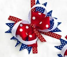 For your daughter: Pretty and Patriotic - Easy 4th of July DIY Hair Bows