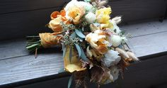 flora fauna bouquet from Bonnie and Mox wedding