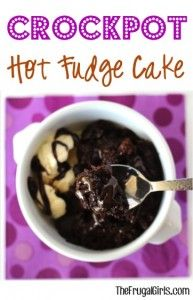 Slow Cooker Hot Fudge Cake Recipe from TheFrugalGirls.com