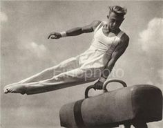 1936 Vintage OLYMPIC MALE Gymnast By LENI RIEFENSTAHL