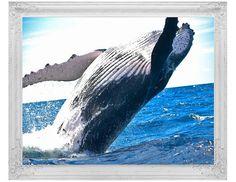 Blue Whale Print, Ocean Art, Seascape Wall Decor, Water Instant Download